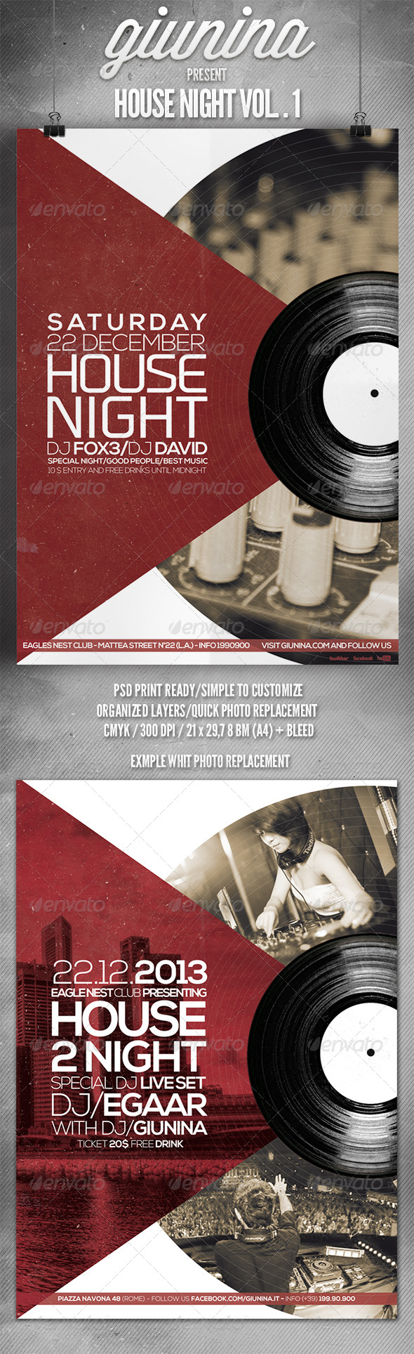 GraphicRiver House Night Vol.1 Flyer Poster 6144001
