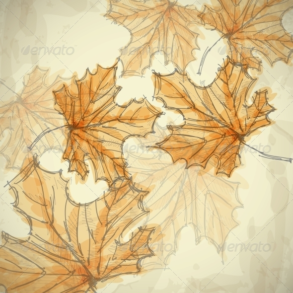 GraphicRiver Hand Drawn Autumn Background 6144252