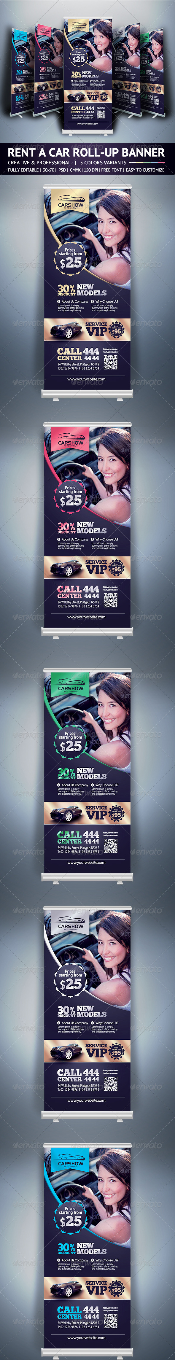 GraphicRiver Rent A Car Roll Up Banner 6144903