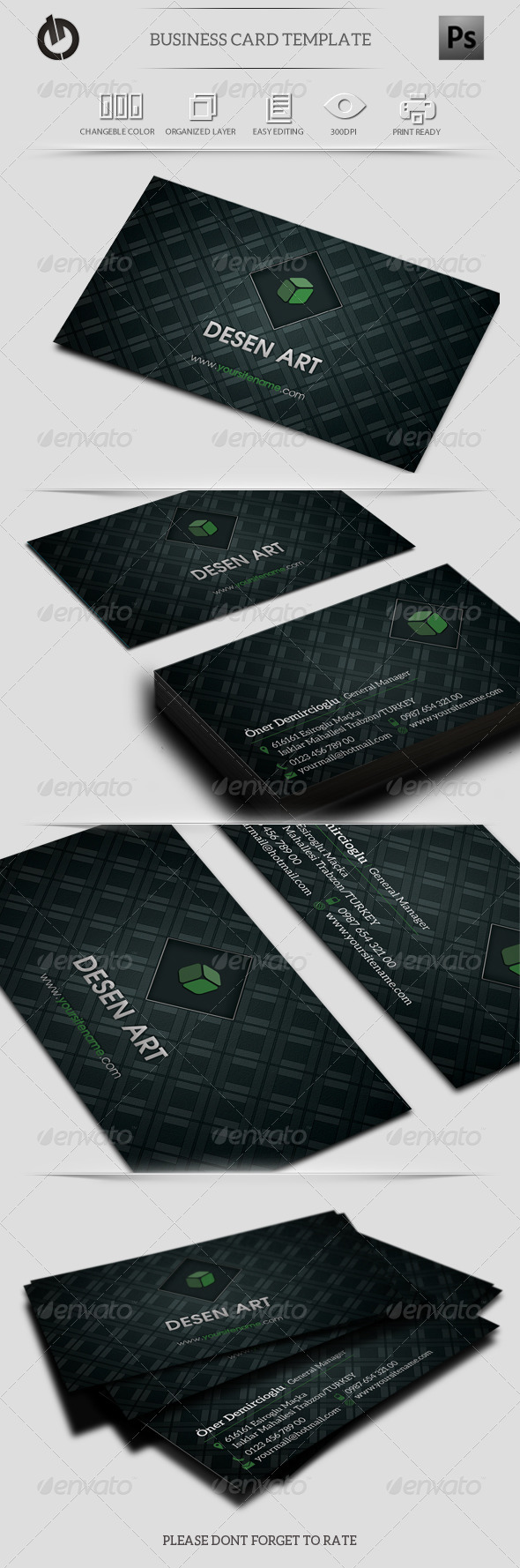 GraphicRiver Green Business Card 6144911