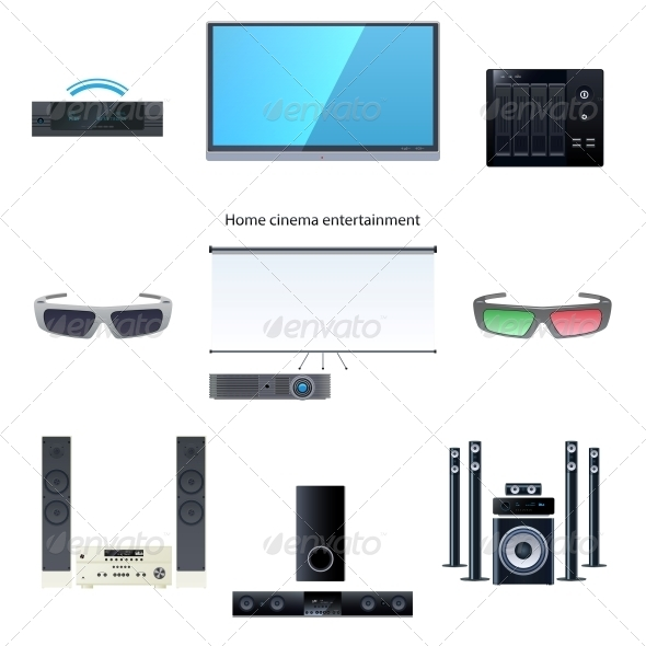 GraphicRiver Home Cinema Entertainment Set 6145111