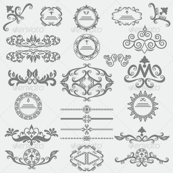 GraphicRiver Vintage Design Elements 86 6145178