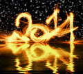 Happy New Year 2014 glowing numbers - PhotoDune Item for Sale