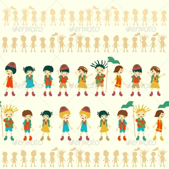 GraphicRiver Illustration of Seamless Children Pattern 6145322