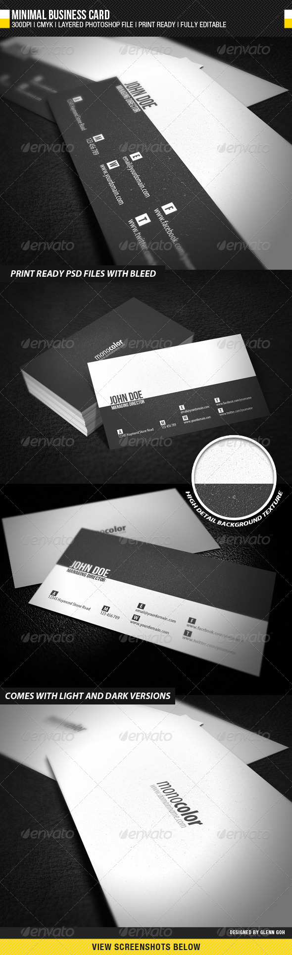 GraphicRiver Minimal Business Card 642018
