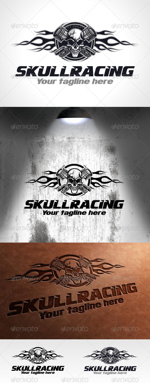 GraphicRiver Skull Racing Logo Template 6145977