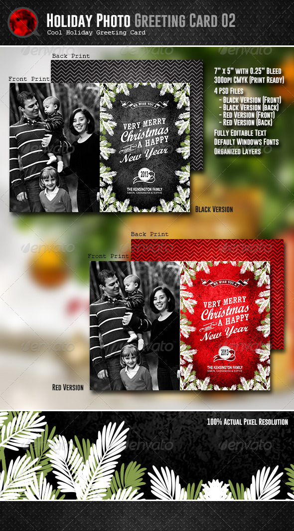 GraphicRiver Holiday Photo Greeting Card 02 6145996