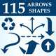 Arrows Custom Shapes - GraphicRiver Item for Sale