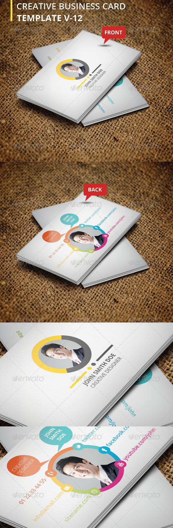 GraphicRiver Creative Business Card V-12 6145982