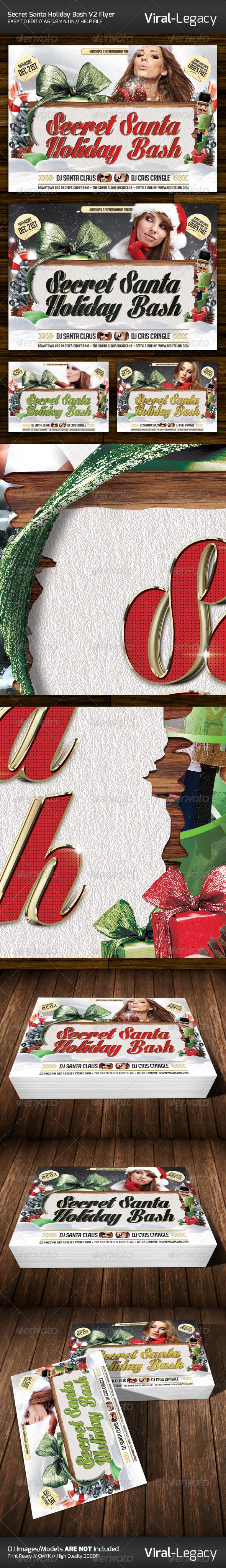 Secret Santa Holiday Bash V2 Flyer - Events Flyers