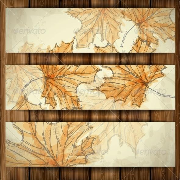 GraphicRiver Hand Drawn Autumn Background 6146728