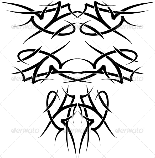 GraphicRiver Wing Tattoos 6146799