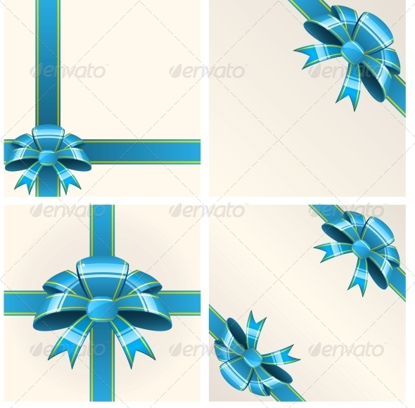 GraphicRiver Blue Bow with Ribbons 6146869