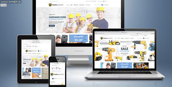 ThemeForest 456Industry eCommerce Wordpress Theme 6147589