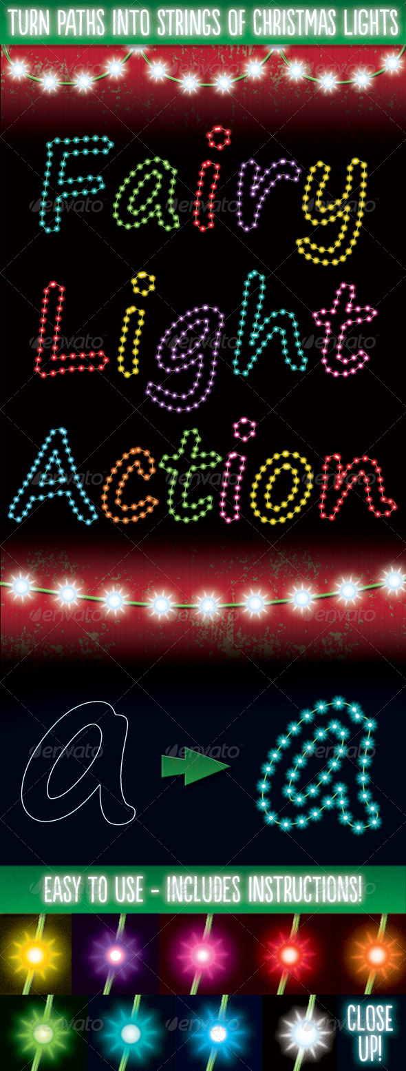 GraphicRiver Christmas Light Generator Actions 6147684