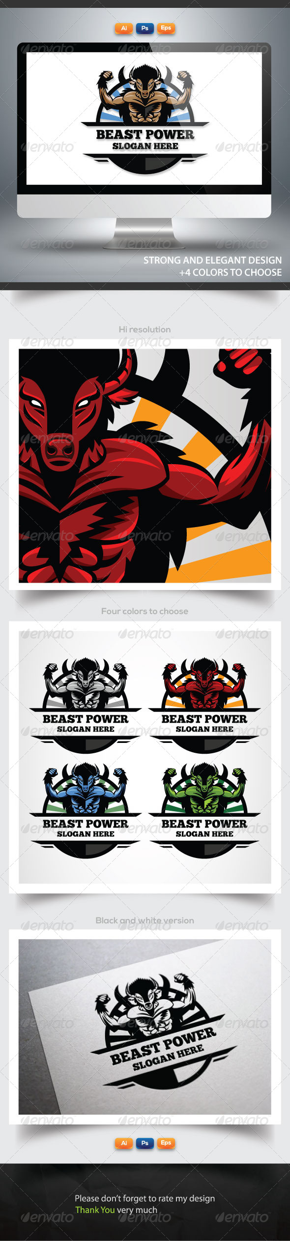 GraphicRiver Beast Power 6135911