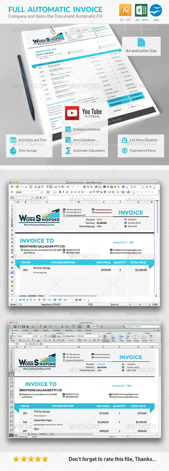 GraphicRiver Invoice 6147895