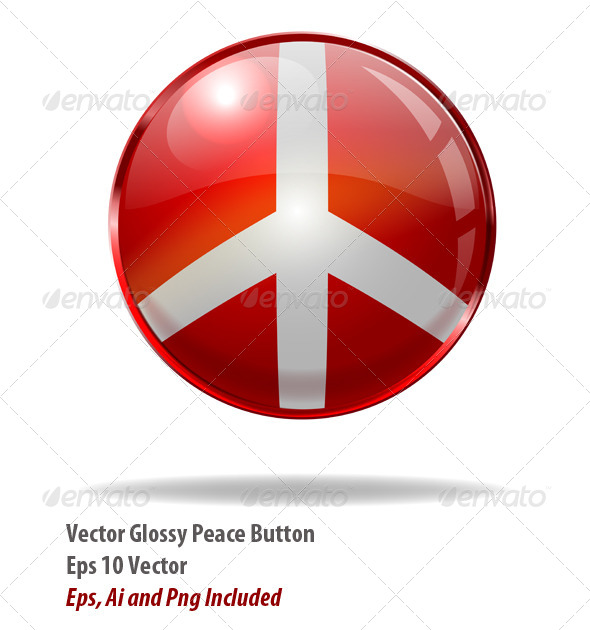 GraphicRiver Peace Button 6147957
