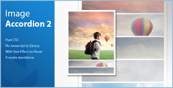 CodeCanyon Pure CSS Image Accordion vertical 6148201