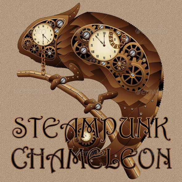 GraphicRiver Steampunk Chameleon Style 6148416