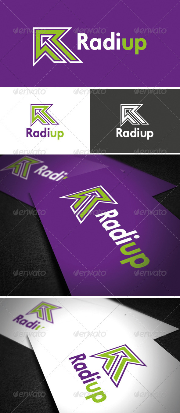 GraphicRiver RadiUp Logo 6148730