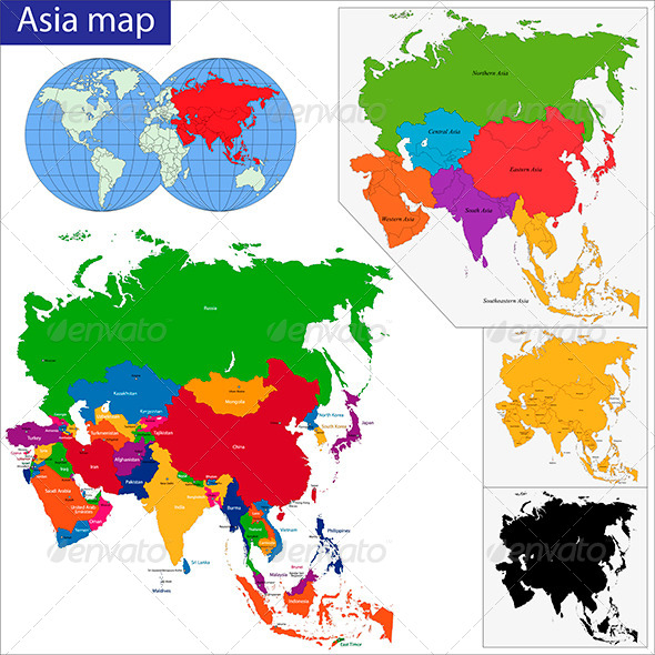 GraphicRiver Asia Map 6149052