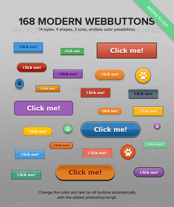 GraphicRiver 168 Modern Buttons 6149568