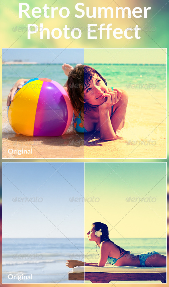 GraphicRiver Retro Summer Photo Effect 6149583