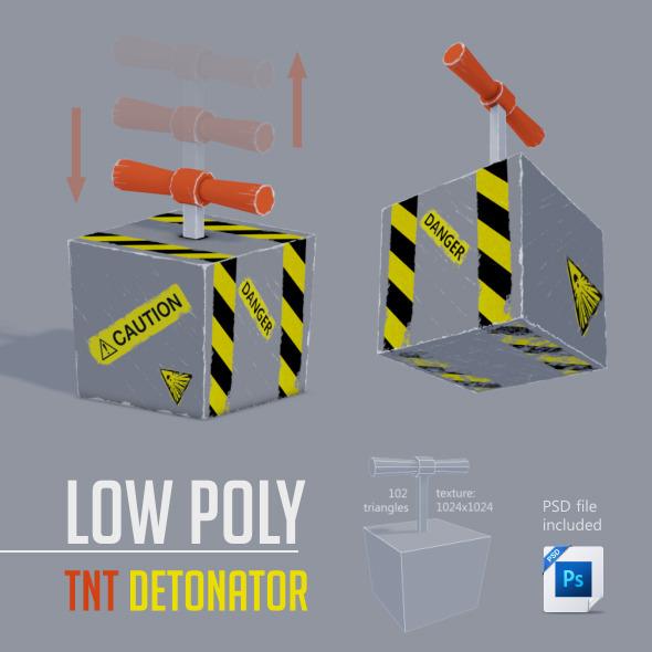 3DOcean Low Poly TNT Detonator 6134300