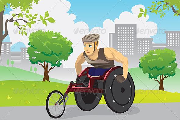 GraphicRiver Wheelchair Athlete 6150385