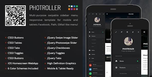 ThemeForest Photroller Mobile & Tablet Responsive Template 6150430