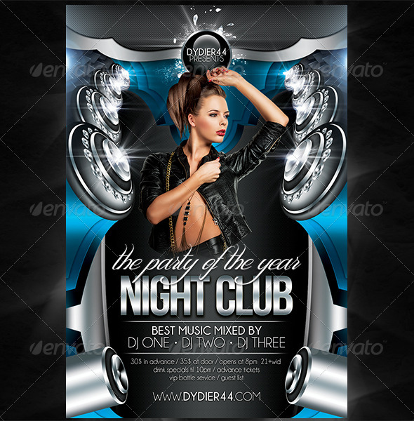 Night Club (Flyer Template 4x6) by Dydier44 | GraphicRiver