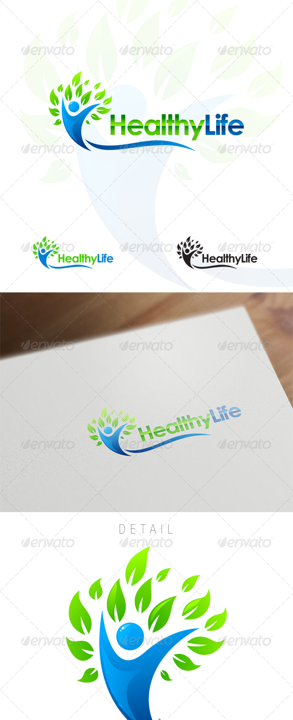 GraphicRiver Healthy Life Wellness & Medical Logo Design 6151071