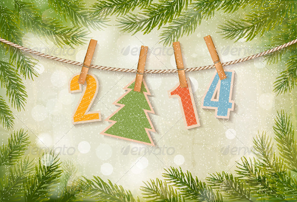 GraphicRiver Happy New Year Background 6151075
