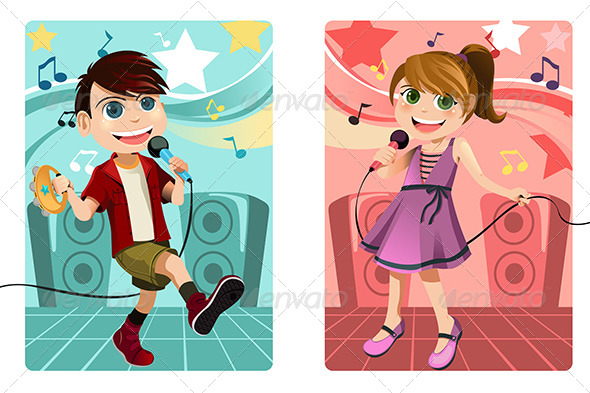GraphicRiver Kids Singing Karaoke 6151082