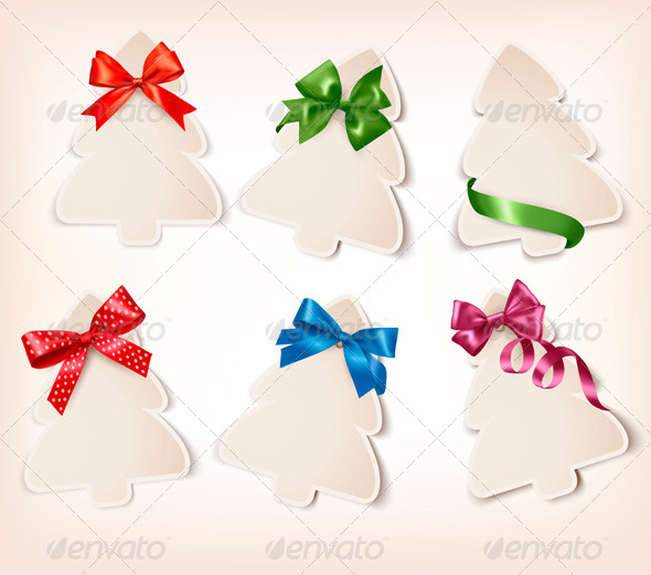 GraphicRiver Set of Gift Cards with Gift Bows 6151088