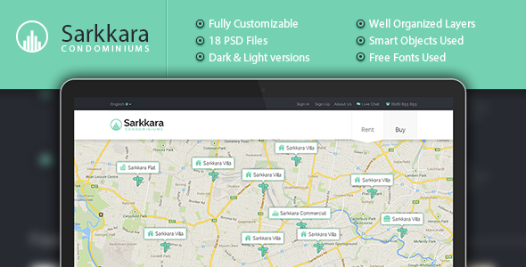 ThemeForest Sarkkara Condominiums PSD 6151232