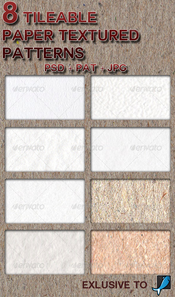 GraphicRiver 8 Tileable Paper Patterns 6151746