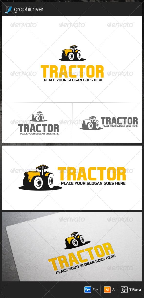 GraphicRiver Tractor Logo Templates 6152069