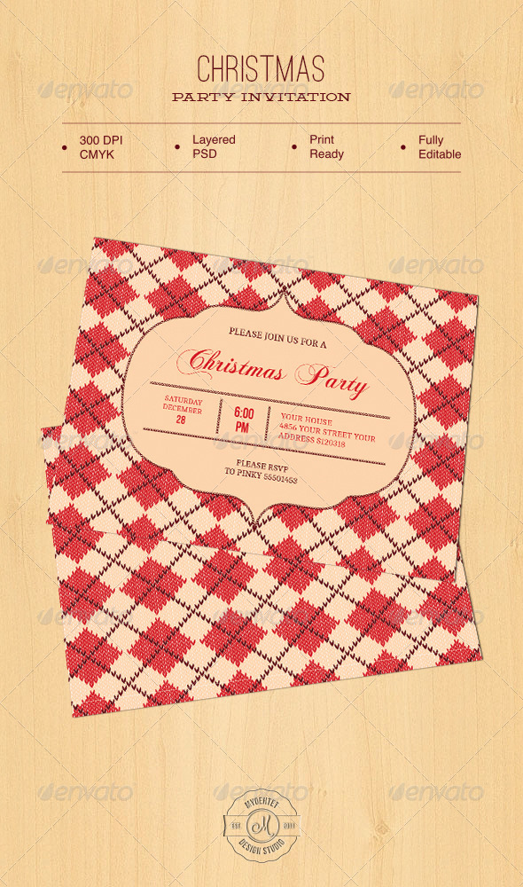 GraphicRiver Christmas Party Invitation 6152151