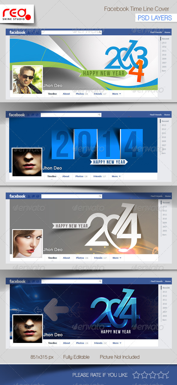 GraphicRiver New Year s Facebook Timeline Template 6153107