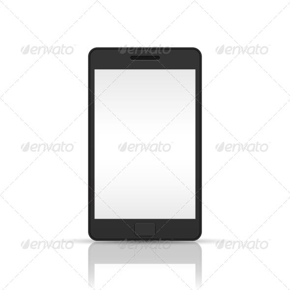 GraphicRiver Black Smartphone 6153337