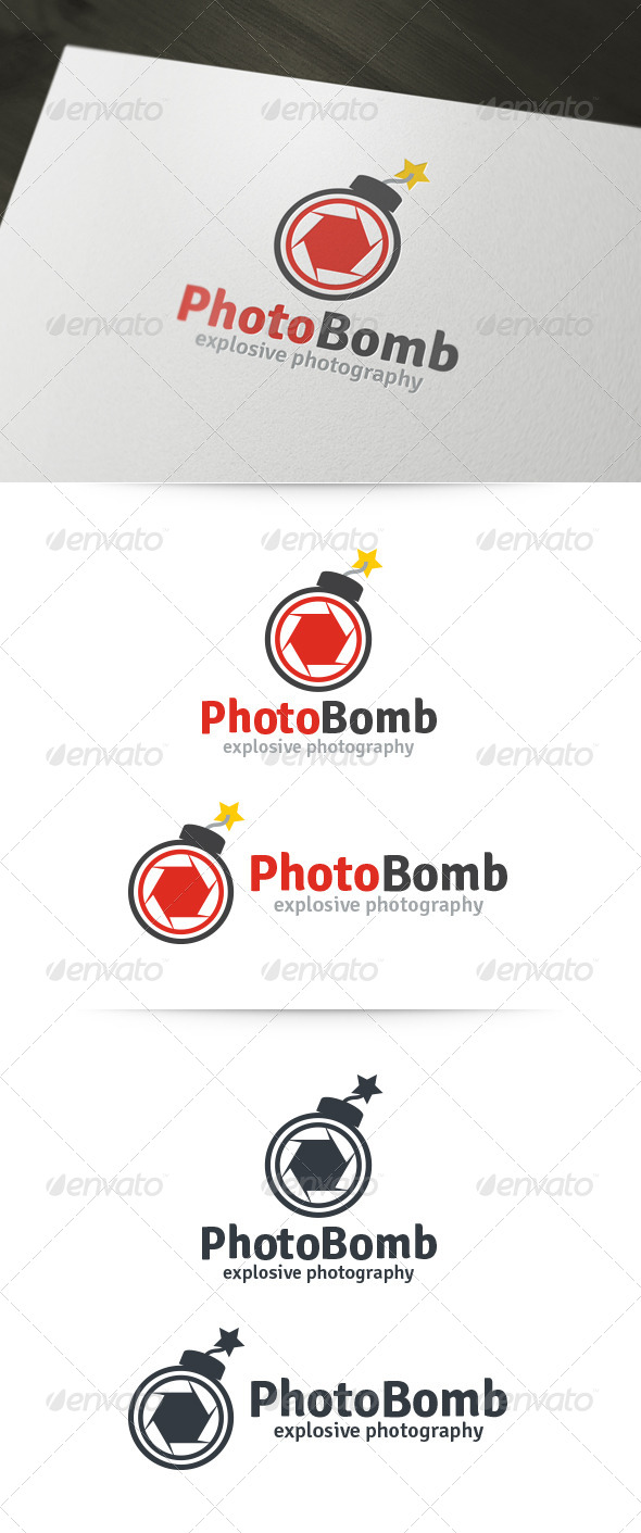 GraphicRiver Photo Bomb Logo 6153568