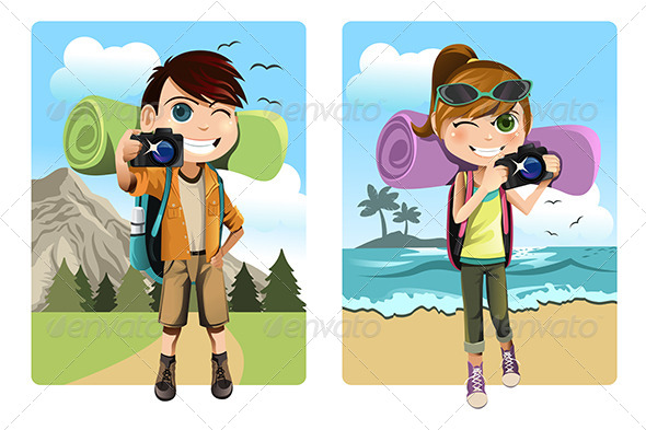GraphicRiver Traveling Kids 6153763