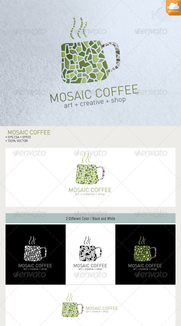 GraphicRiver Mosaic Coffee 6154062