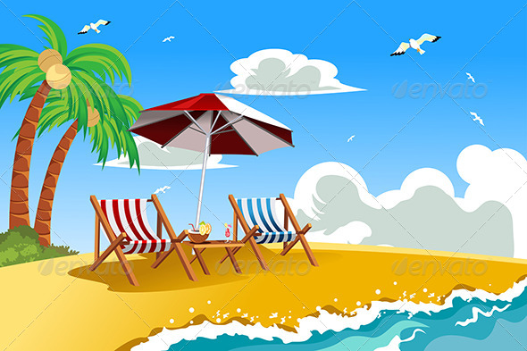 GraphicRiver Beach Chairs 6154248
