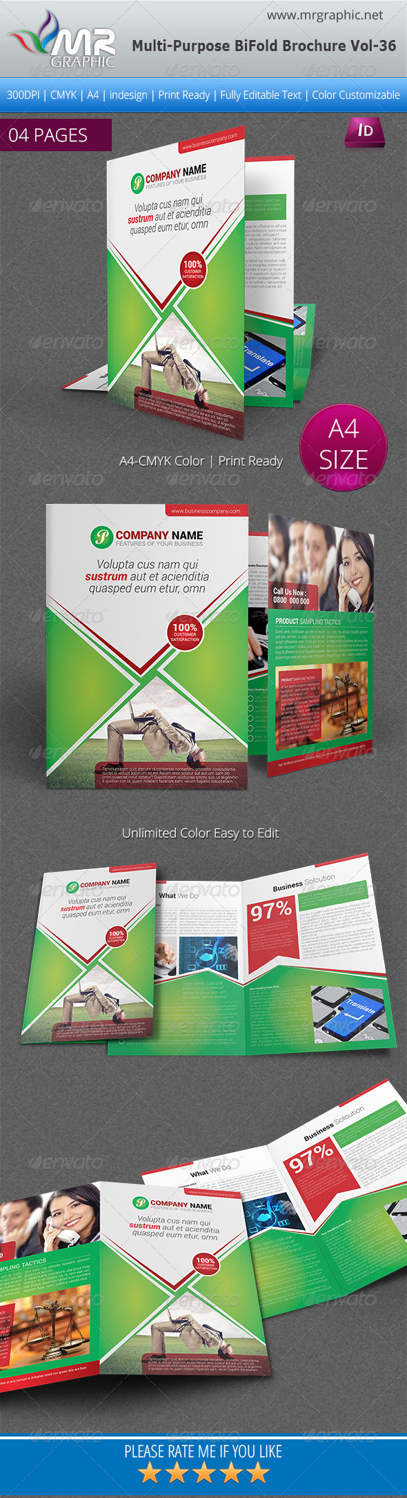 GraphicRiver Multipurpose Bi-fold Brochure Template Vol-36 6154485
