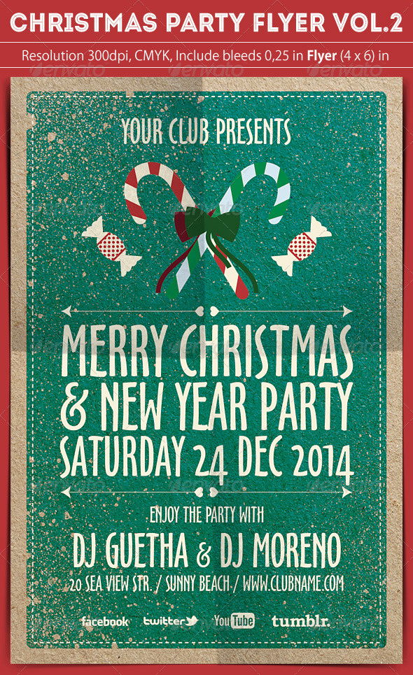GraphicRiver Christmas Party Flyer Vol.2 6154370