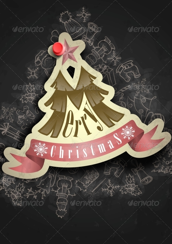 GraphicRiver Christmas Sticker 6154915