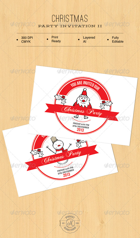 GraphicRiver Christmas Party Invitation II 6155445
